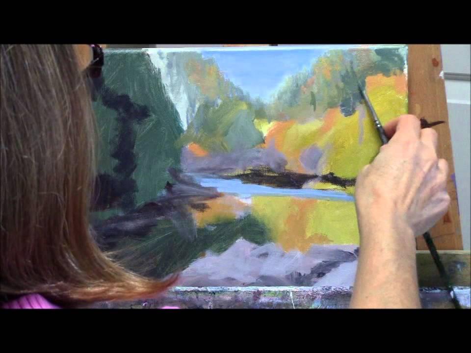 Quot Umpqua Reflections Quot Part 1 Acrylic Autumn River