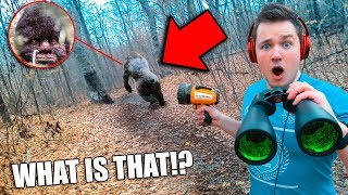 I Found BIGFOOT in Real Life using SPY GADGETS 😱 (Sasquatch Evidence)
