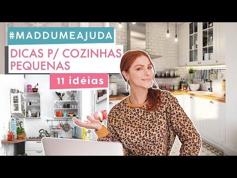 11 Dicas p/ Cozinhas Pequenas ! Organização / Decoração #Maddumeajuda