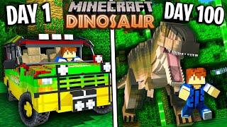 I survived 100 Days In Jurassic World (Minecraft)