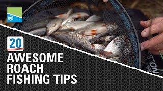 Video thumbnail for 20 AWESOME Roach Fishing Tips! Preston Innovations Match Fishing Videos