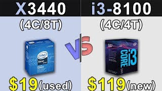 Xeon X3440 (3.8GHz) Vs. i3-8100 | GTX 1060 6GB | Which is a Better Value For MONEY...???