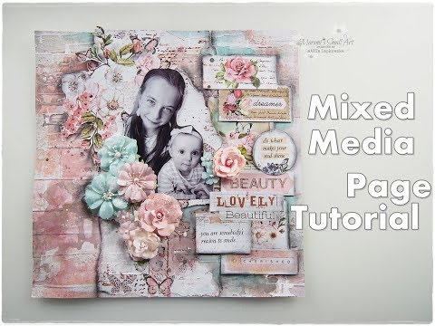 Mixed Media Scrapbooking Page ♡ Layout with Photograph Tutorial ♡ Maremi's Small Art ♡