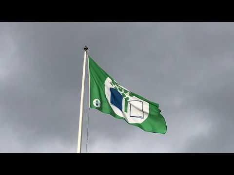 Grön flagg på Prästslättskolan i Karlshamn