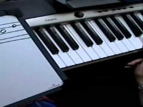 Clases de piano- lección 2-pentagrama-notas-en-el-piano.wmv