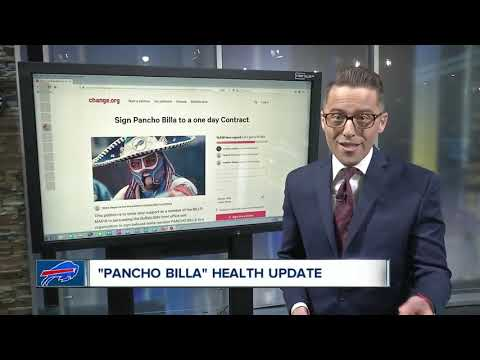 Bills super fan Pancho Billa unable to communicate because of medication