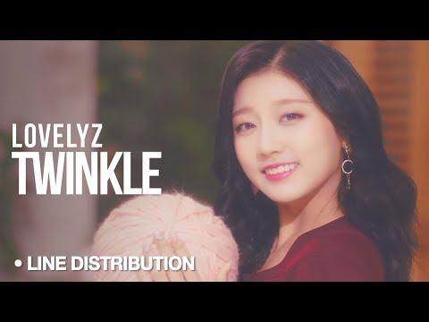 LOVELYZ (러블리즈) - Twinkle (종소리) : Line Distribution (Color Coded)