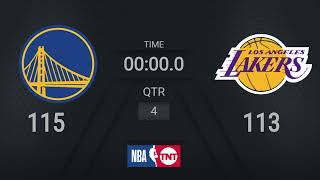 Warriors @ Lakers    #MLKDay Live TNT Scoreboard