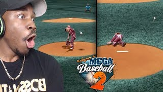 HITTING PITCHER IN FACE TWICE WITH LINE DRIVES! Super Mega Baseball 2 Online Gameplay Ep. 4