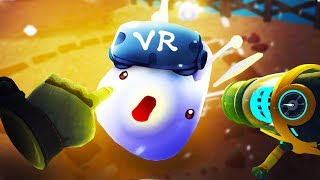 PLAYING WITH MEGA SLIMES IN VR!! - Slime Rancher VR Playground HTC Vive