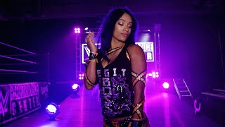 Sasha Banks practices her new entrance