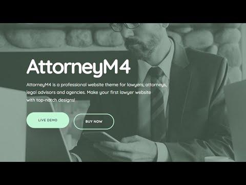 Mobirise Lawyer Website Template | AttorneyM4