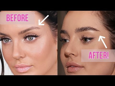 How I Grew Out My Eyebrows + NEW Fluffy Brow Routine! \ Chloe Morello