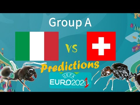 Euro 2021 predictions - Italy vs Switzerland - My Ants´ predictions