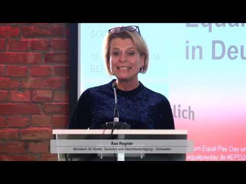 Åsa Regnér, Ministerin für Kinder, Senioren und Gleichstellung Schweden | 18.10.2016, Berlin