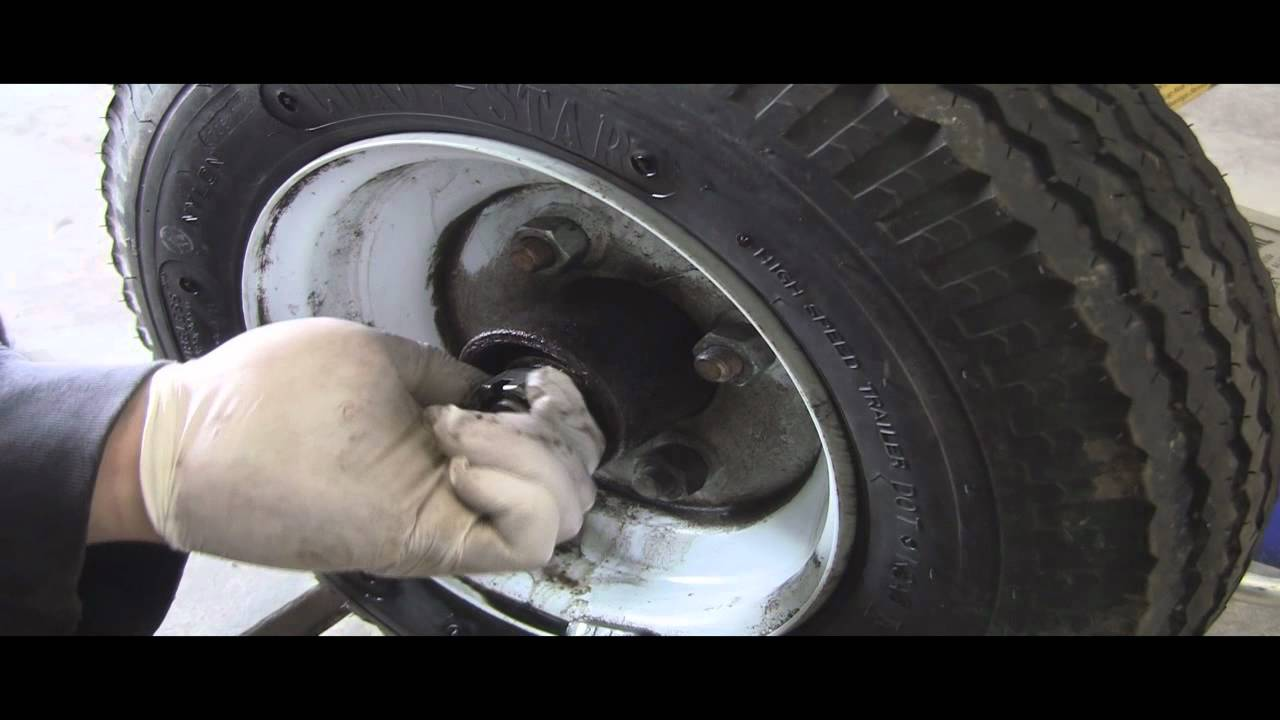 How To Grease Pack Trailer Wheel Bearings Trailer In A