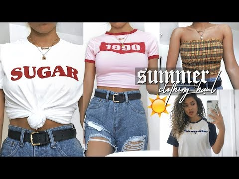 HUGE SUMMER TRY ON CLOTHING HAUL! 2018