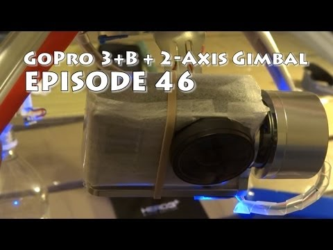 GoPro 3+ Black, Protective Lens, on a 2-Axis Brushless Camera Gimbal