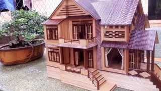 Nhà Tăm Tre Đẹp - Bamboo Toothpick House ver.2 - [HD]