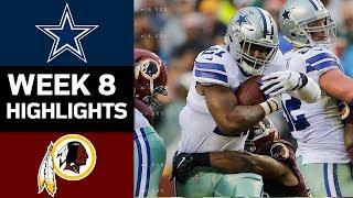 Cowboys vs. Redskins | NFL Week 8 Game Highlights