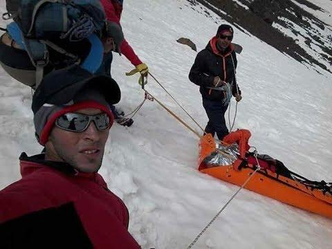 فيديو حصري: كيف انتشل السائح الإسباني من جبل توبقال ولكن..فارق الحياة