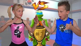 Sister vs Brother TWIN NINJA Challenge!