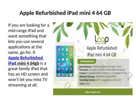 Apple Store Refurbished- Relish the Joy of the Best iPad at Loop8