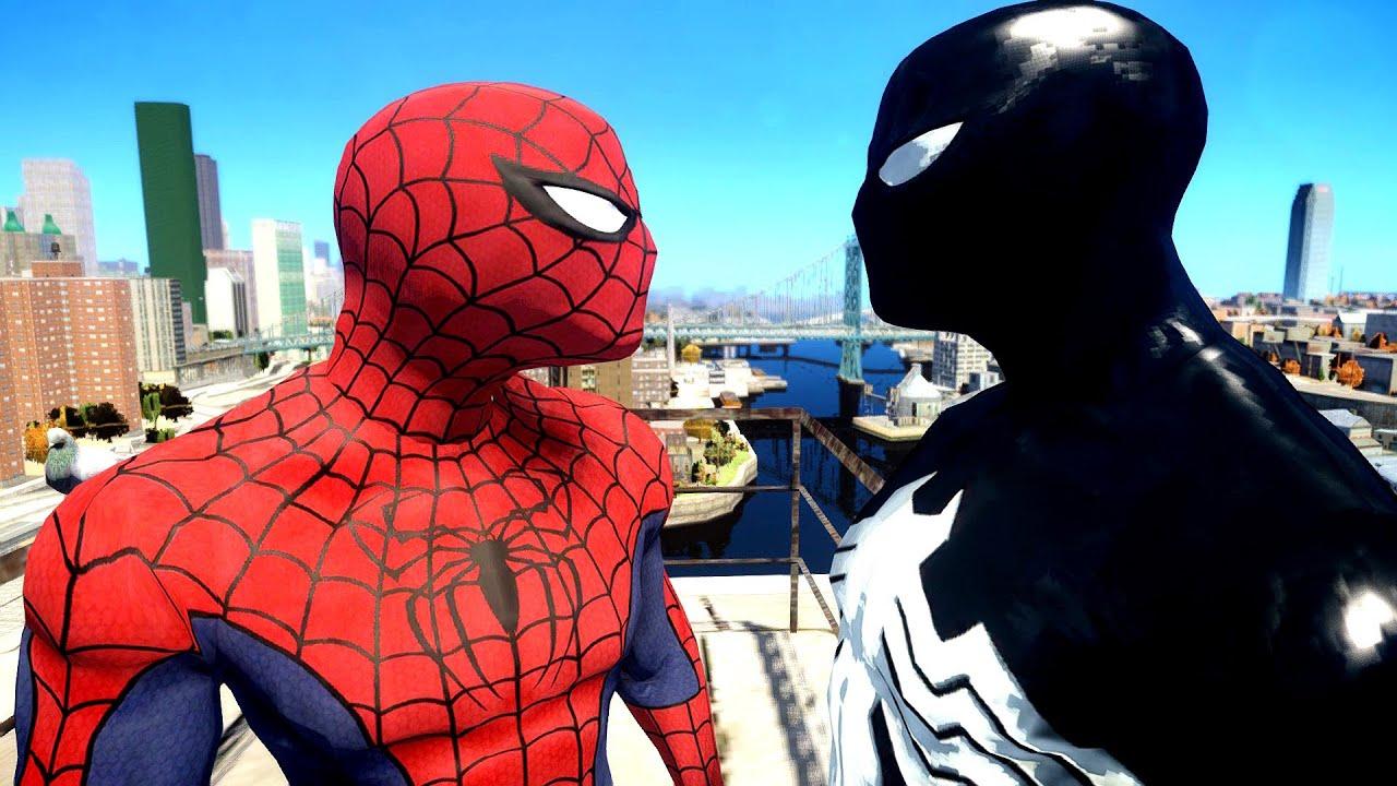 Spiderman VS Black Spider-man - YouTube