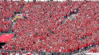 WISCONSIN JUMP AROUND in student section at Camp Randall, Madison