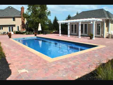 Pavers and fiberglass swimming pools awesome slideshow - Installing pavers around swimming pool ...