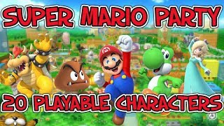 Super Mario Party (Switch): 20 PLAYABLE CHARACTERS!