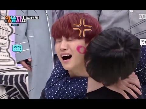 [ENG SUB] GOT7 MEMBERS KISS JB ON NECK,CHEEKS,FOREHEAD AND NOSE WITH LIPSTICK ON