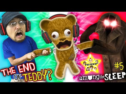FGTeeV Teddy Bear Gamer Rage ~RIPPED~ + Mom is Mean too! (Among the Sleep Part 5 THE END)