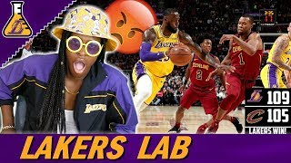 CAVALIERS ALMOST BEAT THE LAKERS! LONZO FINALLY AGRESSIVE!! LEBRON STILL DOMINATING! (Lakers Lab)
