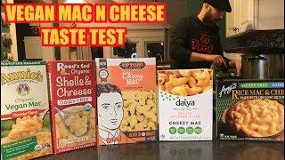 Vegan Mac N Cheese Taste Test 5 Kinds (Mukbang)