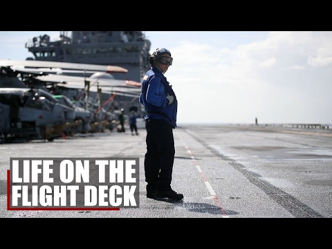 Life On The Flight Deck | Marines and Sailors work together onboard the USS Bataan