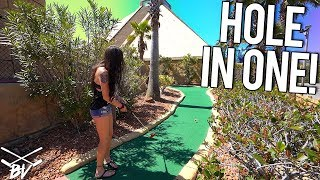 THIS IS A MUST PLAY ONE OF A KIND MINI GOLF COURSE! LUCKY MINI GOLF HOLE IN ONE AND MORE! - YouTube