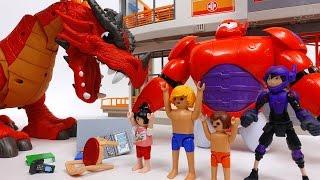 Defeat The Evil Dragon~! Go Big Hero 6 Go Baymax