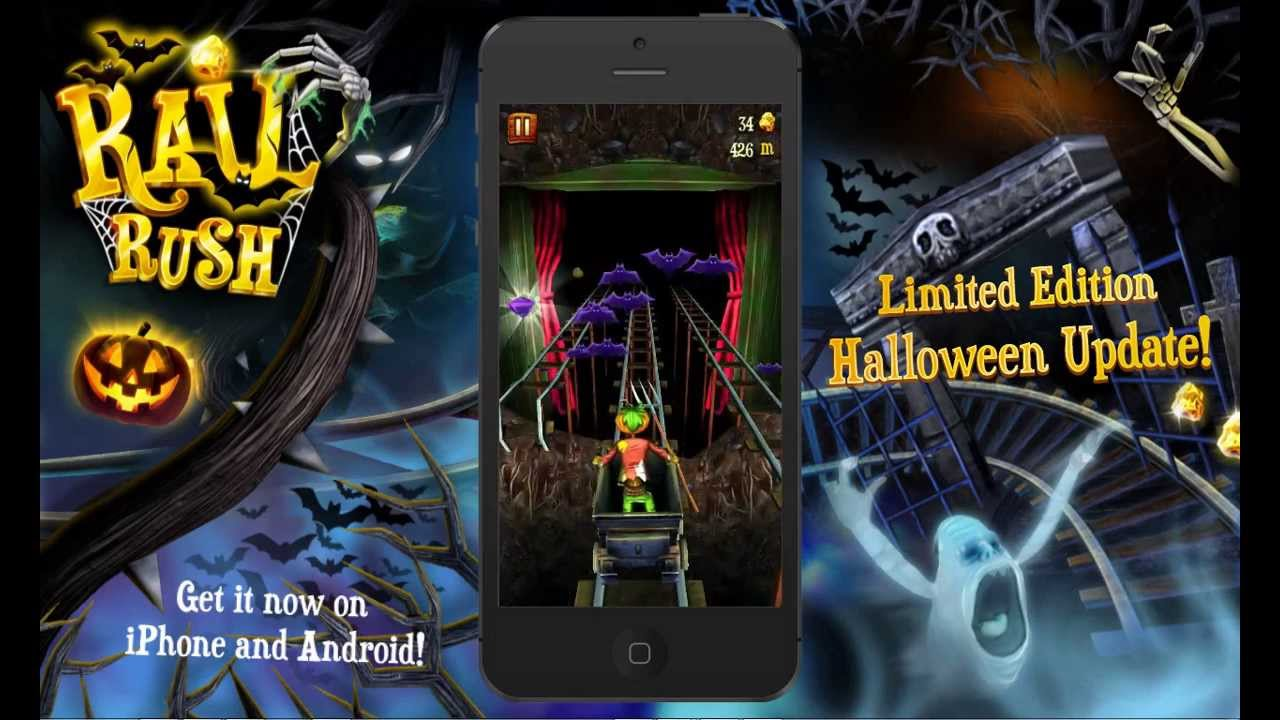 rail rush halloween special - rail rush worlds game videos
