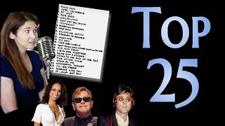 Aimee's Top 25 Pop/Soul/Rock Songs
