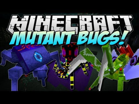 Minecraft   MUTANT BUGS! (New Mobs And BOSSES!)   Mod Showcase [1.5.2] - Smashpipe Games