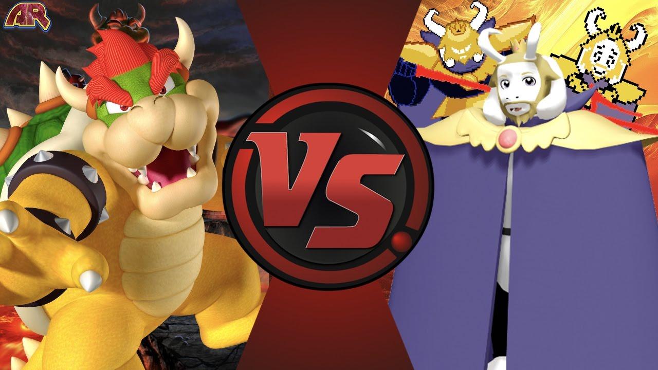 BOWSER vs ASGORE! (Mario vs Undertale) Cartoon Fight Club Episode 151
