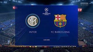 FIFA 19 | Inter Milan vs FC Barcelona - UEFA Champions League (Full Gameplay Xbox One X)