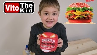 Angriest Whopper by Burger King Taste Test | Vito the Kid