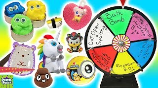 Wheel of Squish! Cutting Open Squishy Toys With Jose and the Putty Peeps! Doctor Squish