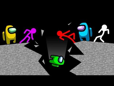 Stickman VS Among Us: Earthquake Survival - AVM Shorts Animation