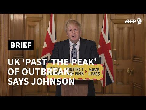 UK 'past the peak' of coronavirus outbreak: PM Johnson | AFP photo