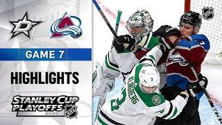 NHL Highlights | Second Round, Gm7 Stars @ Avalanche - Sept. 04, 2020