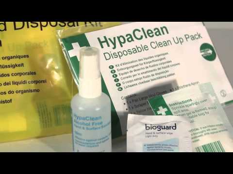 HypaClean Body Fluid Disposal Kit, Wallet (1 App)