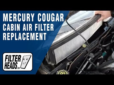 Cabin Air Filter Replacement Mercury Cougar Youtube